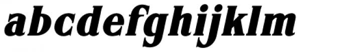 ARB 67 Roman Tall JUL-37 CAS Bold Italic Font LOWERCASE