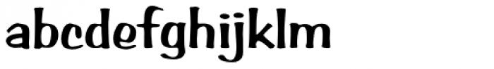 Arab Brushstroke D Font LOWERCASE