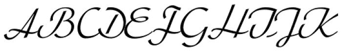 Arabella Pro Light Font UPPERCASE