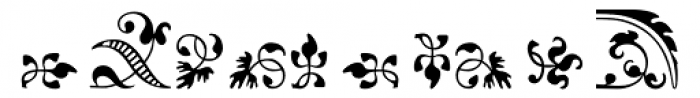Arabesque Ornaments 1 Font OTHER CHARS