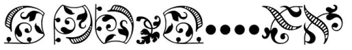 Arabesque Ornaments 1 Font UPPERCASE