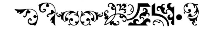 Arabesque Ornaments Two MT Font LOWERCASE