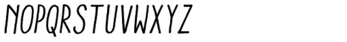 Aracne Condensed Italic Font UPPERCASE