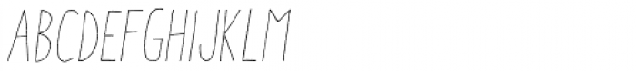 Aracne Condensed Light Italic Font UPPERCASE