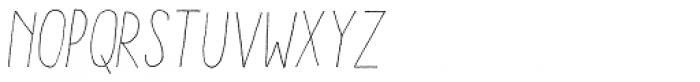 Aracne Condensed Light Italic Font LOWERCASE