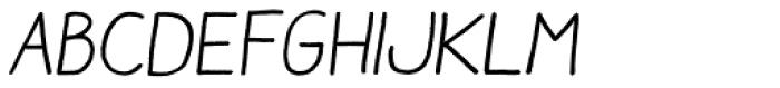 Aracne Italic Font UPPERCASE