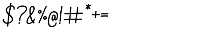 Aracne Soft Italic Font OTHER CHARS