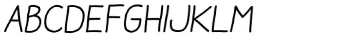 Aracne Soft Italic Font LOWERCASE