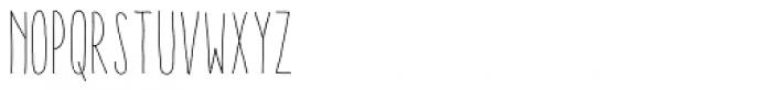 Aracne Soft Ultra Condensed Light Font UPPERCASE