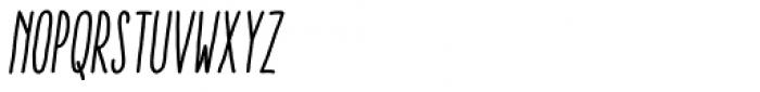 Aracne Soft Ultra Condensed Regular Italic Font UPPERCASE