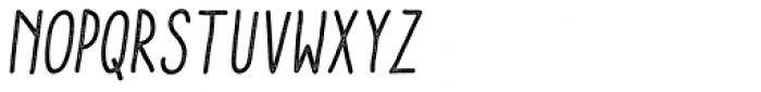 Aracne Stamp Condensed Italic Font UPPERCASE
