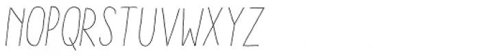 Aracne Stamp Condensed Light Italic Font UPPERCASE