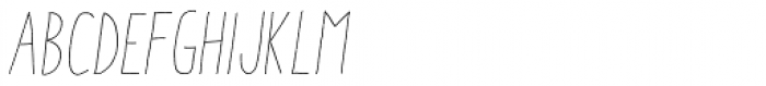 Aracne Stamp Condensed Light Italic Font LOWERCASE
