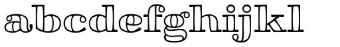 Aramara Chromatic Engraved Font LOWERCASE
