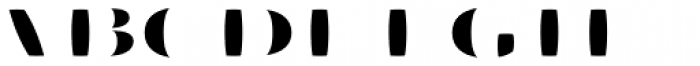 Aramara Chromatic Fill Font UPPERCASE