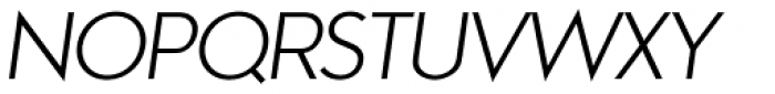 Aramis Light Italic Font UPPERCASE