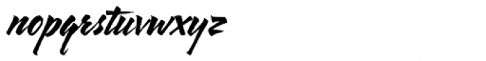 Arbor Brush Font LOWERCASE