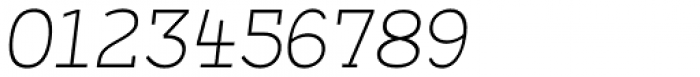 Arbour Extra Light Italic Font OTHER CHARS