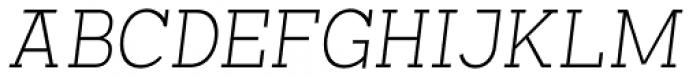 Arbour Extra Light Italic Font UPPERCASE