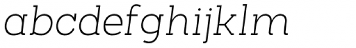 Arbour Extra Light Italic Font LOWERCASE