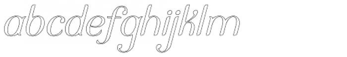 Arc Boutant Italic Stroked Font LOWERCASE
