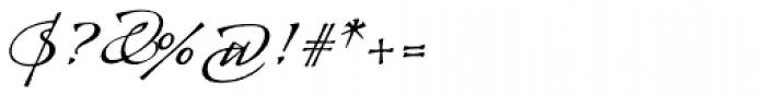 Arcana Std Manuscript Font OTHER CHARS