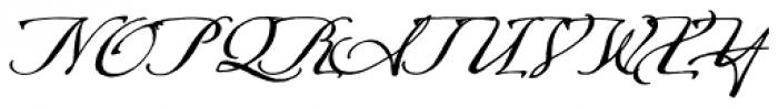 Arcana Std Manuscript Font UPPERCASE