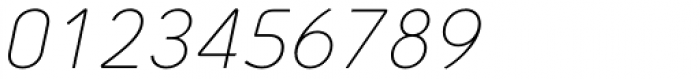 Arch Light Oblique Font OTHER CHARS