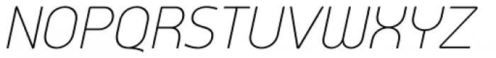 Arch Light Oblique Font UPPERCASE