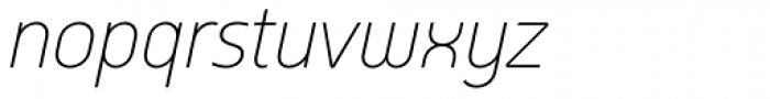 Arch Light Oblique Font LOWERCASE