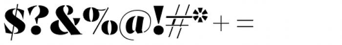 Archeron Pro Stencil Heavy Font OTHER CHARS