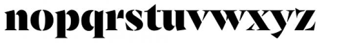 Archeron Pro Stencil Heavy Font LOWERCASE