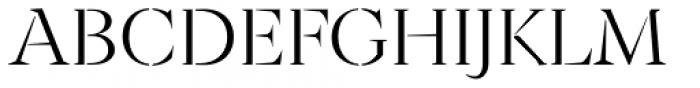 Archeron Pro Stencil Light Font UPPERCASE