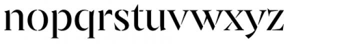 Archeron Pro Stencil Regular Font LOWERCASE