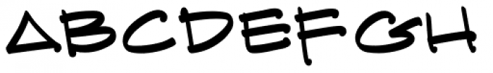 Archi Text BB Lefty Font LOWERCASE