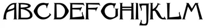 Archibald BA Font UPPERCASE