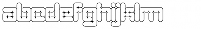Architype Catalogue Outline Font LOWERCASE