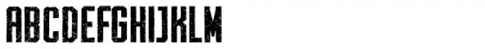 Archiva Bold Worn Font UPPERCASE