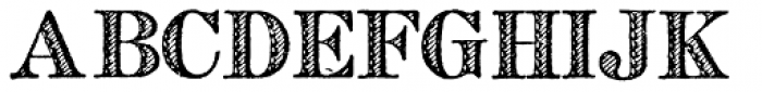 Archive French Shaded Font UPPERCASE