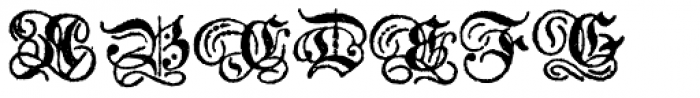 Archive German Text Font UPPERCASE
