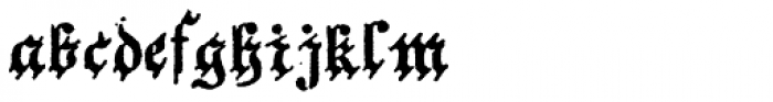 Archive German Text Font LOWERCASE