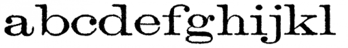 Archive Lightface Extended Font LOWERCASE
