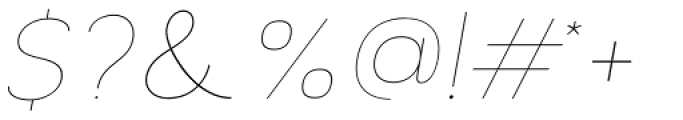 Archivio Italic 100 Font OTHER CHARS