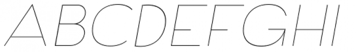 Archivio Italic 100 Font UPPERCASE