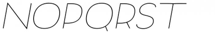Archivio Italic 200 Font UPPERCASE