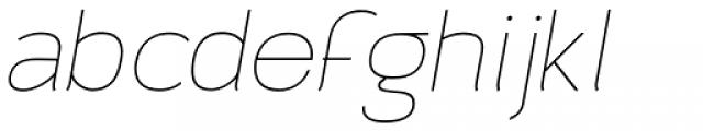 Archivio Italic 200 Font LOWERCASE
