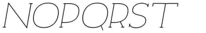 Archivio Italic Slab 200 Font UPPERCASE