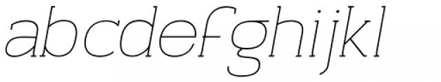 Archivio Italic Slab 200 Font LOWERCASE