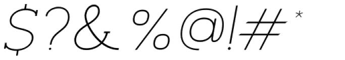 Archivio Italic Slab 400 Font OTHER CHARS