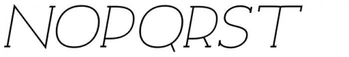 Archivio Italic Slab 400 Font UPPERCASE
